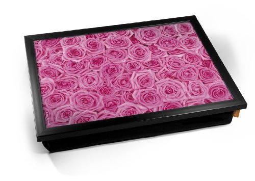 Pink Roses Flower Cushion Lap
