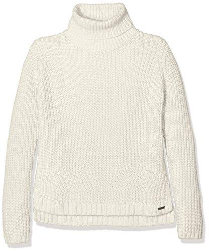 TOM TAILOR Kids roll neck pullover, Felpa Bambina, Marrone (soft beige solid), 140