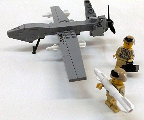 Modbrix-2147--US-AIR-FORCE-Drohne-MQ-9-Reaper-inkl-custom-US-ARMY-Special-Forces-Soldaten-aus-original-Lego-Teilen-