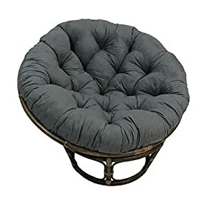 Rattan Papasan Chair With Microsuede Cushion Kitchen Dining