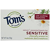 Tom's of Maine Moisturizing Bar Sensitive, 4-Ounces Bars (Pack of 6)