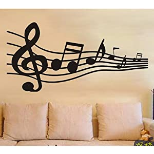 Abstract Big Music Note Stave Self Adhesive Wallpaper Wall