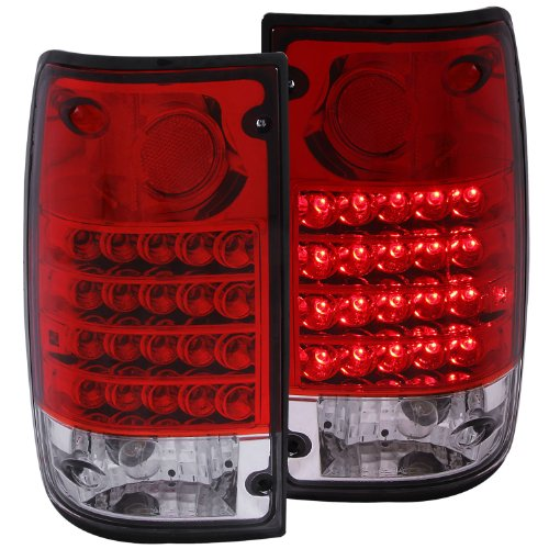 Anzo Usa 311043 Toyota Pickup Red/Clear Led Tail Light Assembly - (Sold In Pairs)