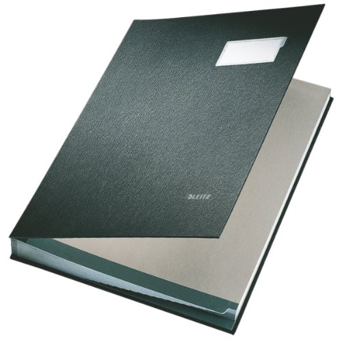 Leitz Signature Book 20 Compartments Durable Blotting Card 340x240mm Black Ref 5700-00-95
