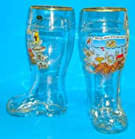 Large Oktoberfest German Glass Beer Boot One Liter from PINNACLE PEAK