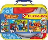 Schmidt Benjamin Blumchen 4 Jigsaws in a Tin