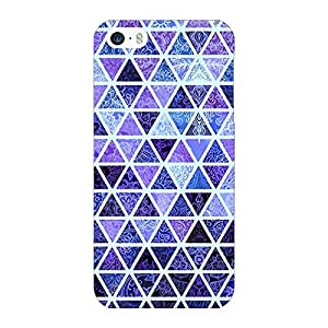 Jugaaduu Blue triangles Pattern Back Cover Case For Apple iPhone 5