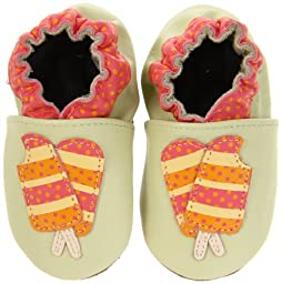 Robeez Soft Soles Tasty Treat Pre-Walker (Infant/Toddler),Green,12-18 Months (4.5-6 M US Toddler)