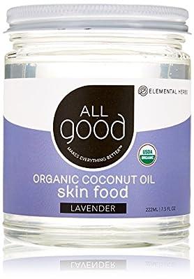 Elemental Herbs All Good Coconut Oil Skin Food, Coconut, 7.5 Fluid Ounce