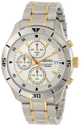 Seiko Men's SKS403 Analog Display Japanese Quartz Two Tone Watch