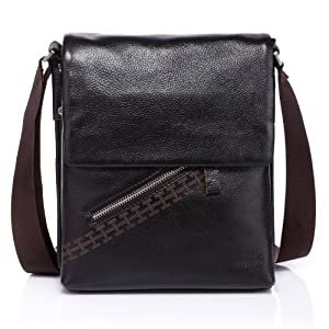 Vicenzo Basics Genuine Leather Messenger / Tablet iPad / Cross Bag