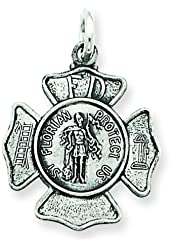 Sterling Silver Saint Florian Medal