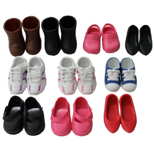 Mommy & Me Doll Collection Doll Collection 10 Pairs Of Shoes Fits 18'' Doll front-987698