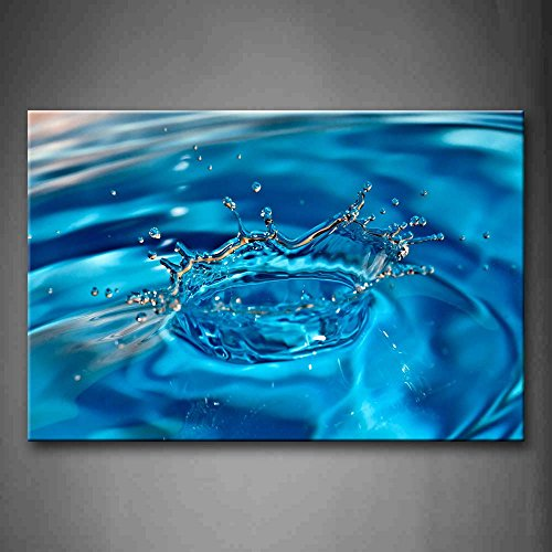 Water Drop Drip On Light Blue Water Wall Art Painting Pictures Print On Canvas Art The Picture For Home Modern Decoration (Light Blue Wall Paint compare prices)