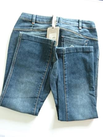 Ladies Girls Fat Face Capri Cropped Skinny Jeans (6)