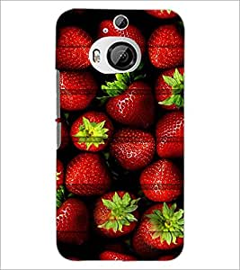 PrintDhaba Strawberries D-5981 Back Case Cover for HTC ONE M9 PLUS (Multi-Coloured)