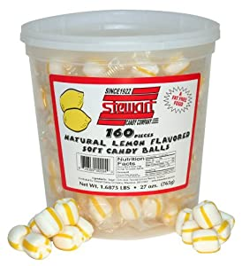 Stewart Candy Soft Lemon Candy for Office Breakrooms, 160 Count Tub (AUA10310)