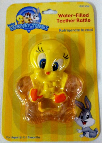 Baby-Looney-Tunes-Tweety-Water-Filled-Teether-Rattle-Pink