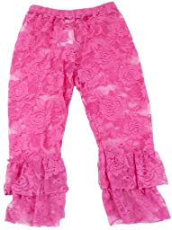Ruffle Bottom Lace Leggings (Infant (12-24 Months), Hot Pink)