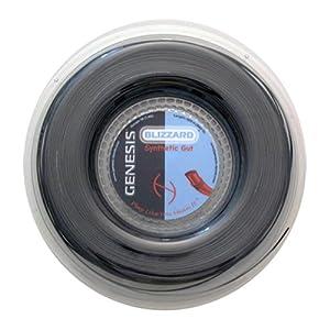 Buy Genesis 660-Feet Blizzard Synthetic Gut Tennis Racket Reel Set, Black, 16L 1.30mm by Genesis