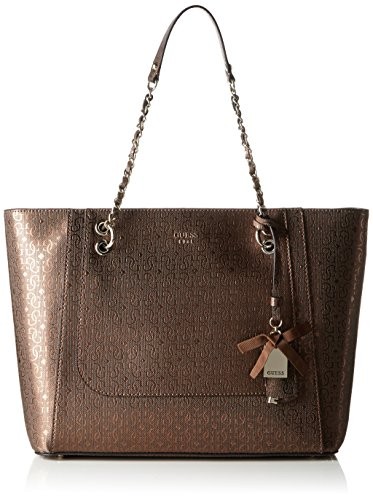 Guess Marian Medium Tote Borsa a Mano, Donna, Marrone (Bronze)