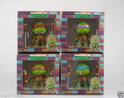 Nicky's Gift Teenage Mutant Ninja Turtles Complete Set 4 Figure Q Version Color Box Pack