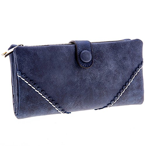 Zeagoo New Womens Fashion Leather ButtonPurse Clutch Wallet Bags Coin Case