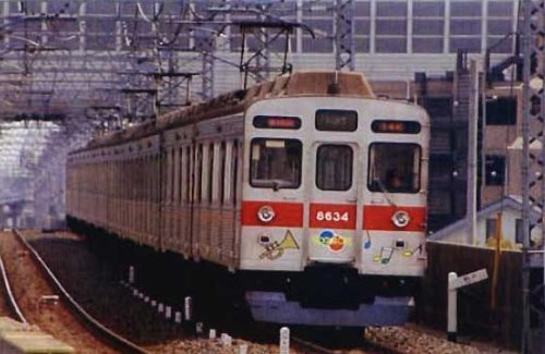 Top Tokyu Series 8500 [TOQ-BOX] 6 Middle Cars for Additional (Trailer Only) (Pre-Colored Kit) (Model Train)