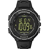 Timex Expedition Shock Xl Vibrating Digital Dial Black Resin Mens Watch T49950