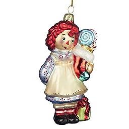 Kurt Adler Glass Raggedy Ann Stocking Ornament, 5-Inch by Kurt Adler
