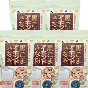 北海道産大豆使用 黒ごまアーモンドきな粉 220gx5個 (4945329101914) -