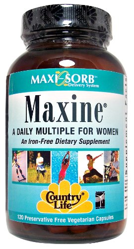 Country Life - Maxi-Sorb Maxine Daily Multiple For Women Iron-Free - 120 Vegetarian Capsules