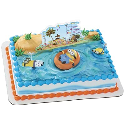 Set includes one minion on float, 2 minion flat poly-plastic picks, and one flat poly-pick beach scene. All other items in the photo are made of icing and are not included. Despicable Me 2 is a trademark and copyright of Universal Studios. Licensed b...