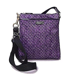 Coach Taylor Snake Print Swingpack Crossbody Purse 50065 Purple