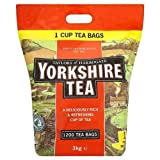 Yorkshire 1 Cup Tea Bags (1 x 1200's Pack)