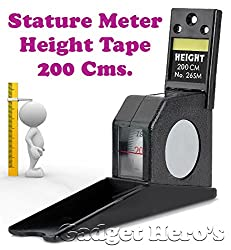 Gadget Hero'sTM Height Measuring Scale Tape Measure Stature Meter 200cms=78inch/2M Wall Mounted. Ideal For Home, Office, School Or Doctors Clinic.