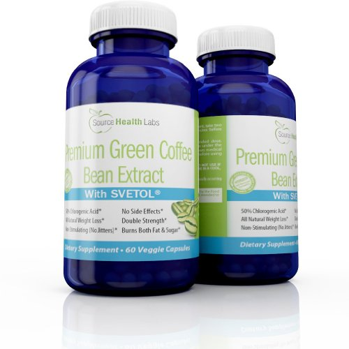 SVETOL® Green Coffee Bean Extract – Clinically Proven Weight Loss Supplement – 2 Bottles
