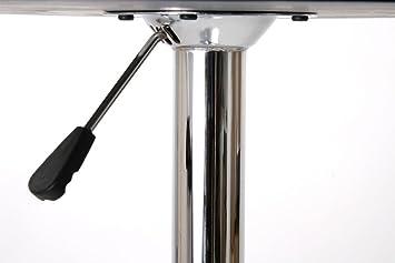 bistro tisch silber runde tischplatte aus holz h henverstellbar drehbar stuttgart da29. Black Bedroom Furniture Sets. Home Design Ideas
