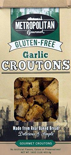 Metropolitan Gourmet Gluten Free Croutons, Garlic, 4.5 ...
