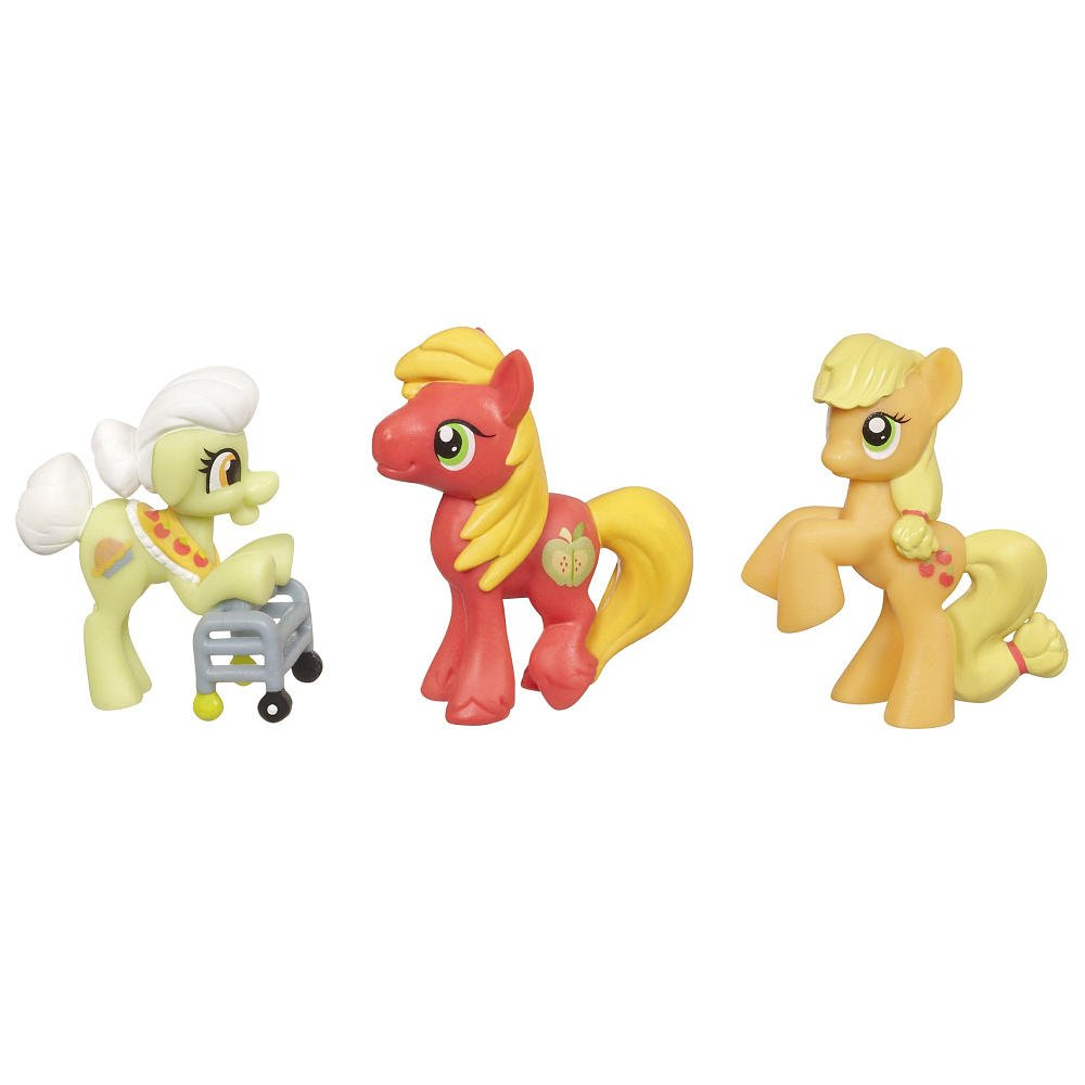 My Little Pony Friendship is Magic Apple Family Set 3Pack Granny Smith, Big Macintosh Applejack Set my granny