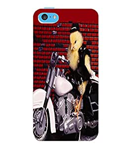 ColourCraft Funny Image Design Back Case Cover for APPLE IPHONE 5C