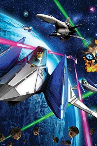 Star Fox Space Battle Fox McCloud Arwing Super Nintendo 64 3DS Video Game Poster - 24x36
