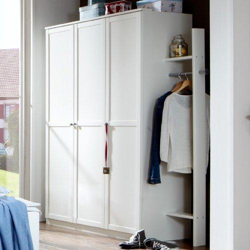 Kleiderschrank »LOUFI« in alpinweiß, mit Garderobe