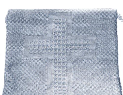 Woven Baby Cross Blanket (Blue)