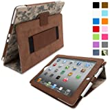 Snugg iPad 2 Case - Smart Cover with Flip Stand & Lifetime Guarantee (Digital Camo Leather) for Apple iPad 2