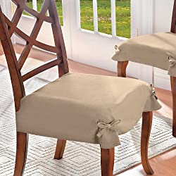 Microsuede Seat Cover-Set of 2 - Red - Improvements