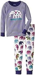 Hatley Little Girls'  Pajama Set - Patterned Elephants Unforgettable