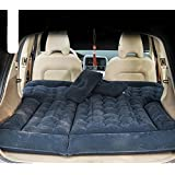 goldhik SUV Car Travel Inflatable Mattress Camping Air Bed Dedicated Mobile Cushion Extended Outdoor for SUV Back Seat(Black) (Color: black)