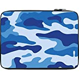 Snoogg Big Blue Camouflage 2786 13 To 13.6 Inch Laptop Netbook Notebook Slipcase Sleeve
