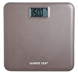 GoWISE USA Electronic Personal Digital Scale w/ Step-On Techonology 400LB Capacity (Brown)